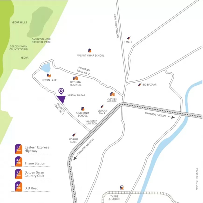 Puraniks Grand Central Location Map