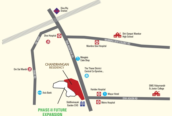Chandrangan Residency Location Map