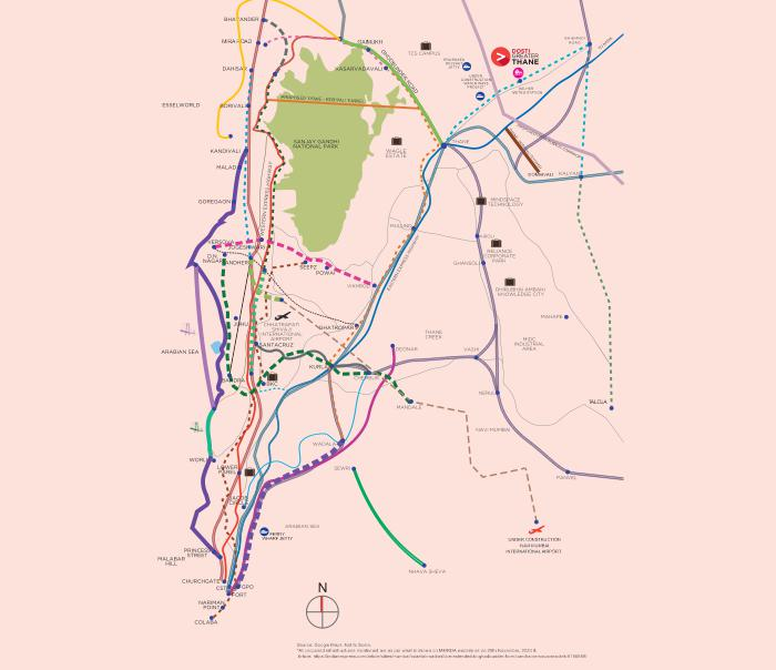 Dosti Greater Thane Location Map