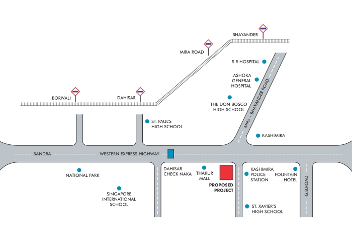ANA Avant Garde Location Map