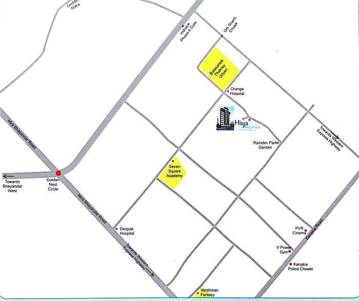 Hiya Regency Location Map