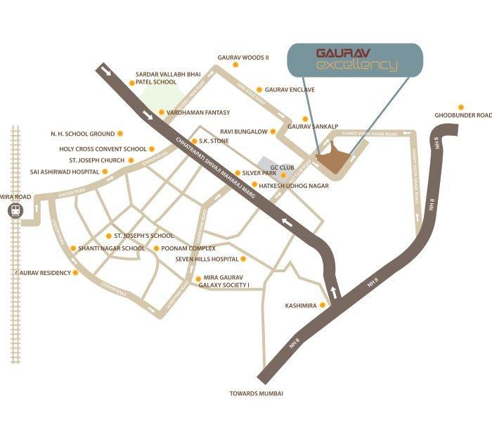 Gaurav Excellency Location Map