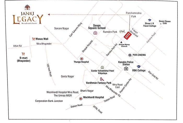 Janki Legacy Location Map