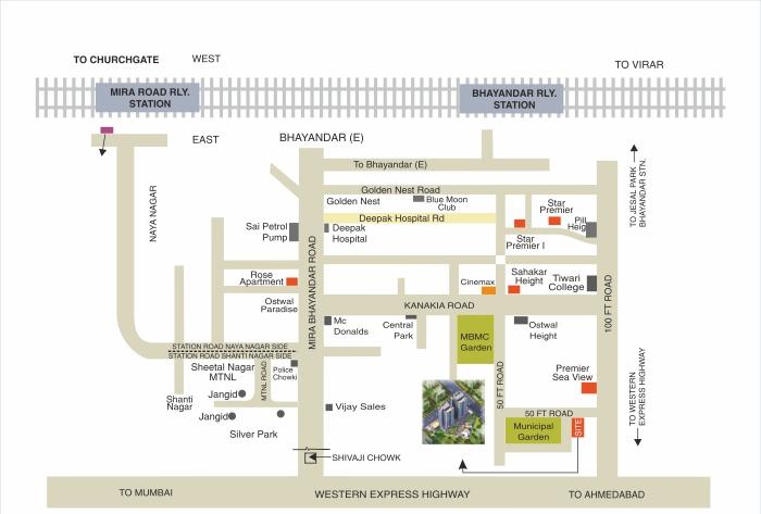 Sahakar Premier Location Map