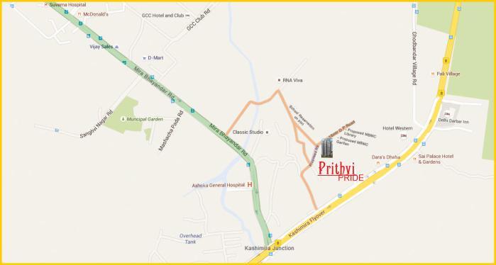 Prithvi Pride Location Map