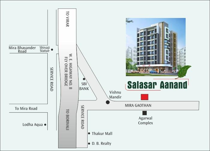 Salasar Aanand Location Map