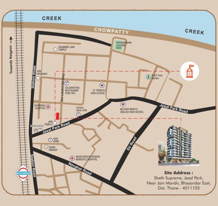 Sheth Supreme Location Map