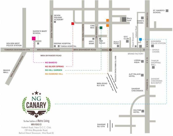 NG Canary Location Map