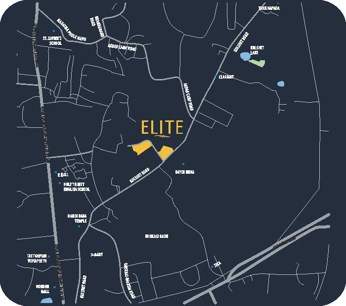 Wadhwa Elite Platina 19 Location Map