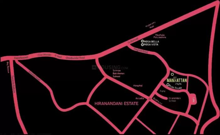 Rosa Manhattan Location Map
