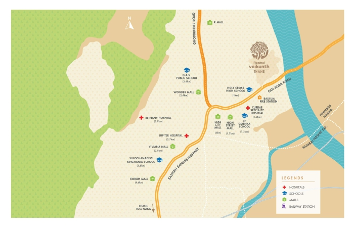 Kalpataru Parkcity Location Map