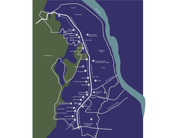 Vihang Metro Hive Location Map