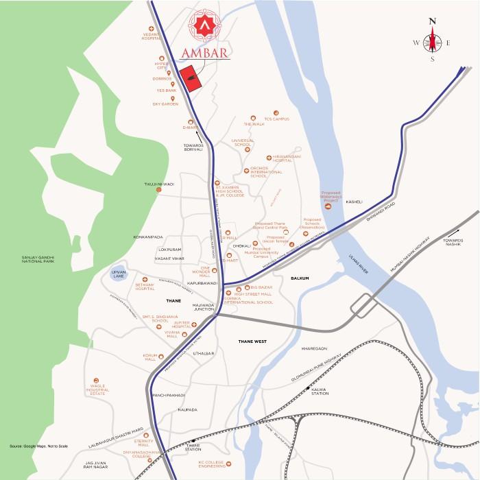 Vedant Ambar Location Map