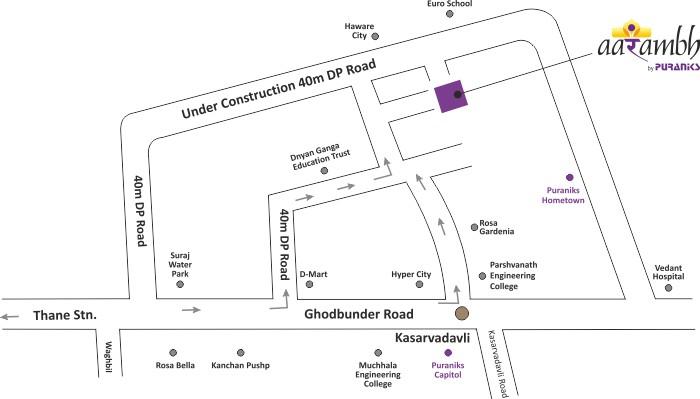 Puraniks Aarambh Location Map
