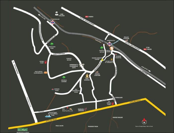 Amrut Raj Regalia Location Map