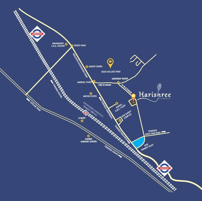 Harishree Residency 1 Location Map