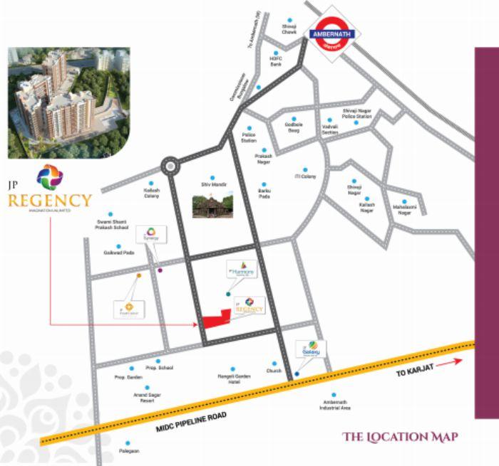 JP Regency Location Map