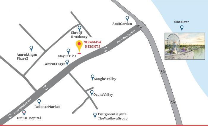 Adiraj Niramaya Heights Location Map