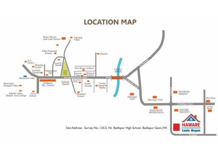 Hawares Leela Angan Location Map