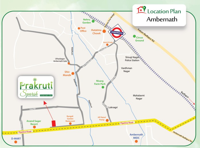 Prakruti Sparsh Location Map
