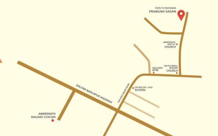 Patel Prayosha Pramukh Sadan Location Map
