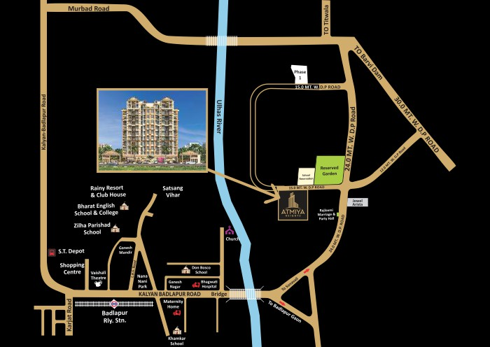 Akshar Atmiya Heights Location Map