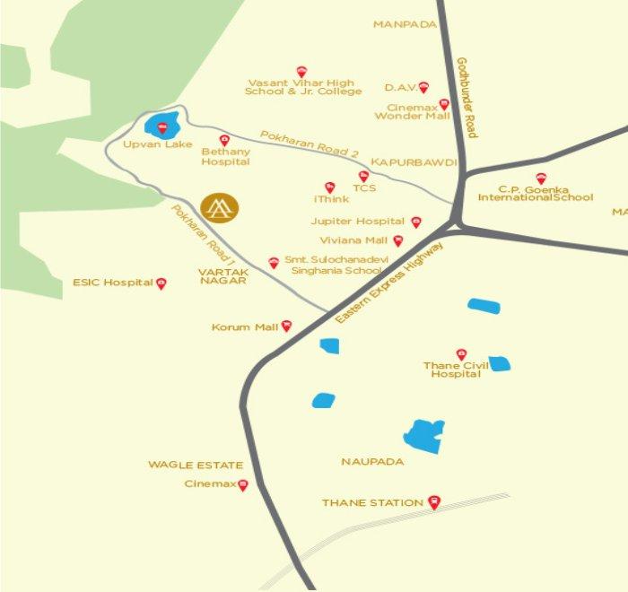 Ashar Metro Towers Location Map