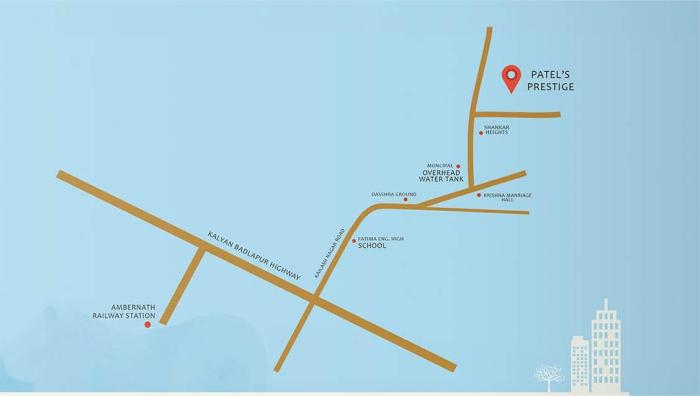Patels Prestige Location Map
