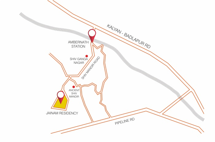 Jainam Residency Phase 2 Location Map