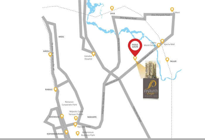 Parvati Heights Location Map