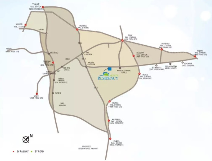 Mukta Residency Phase 2 Location Map