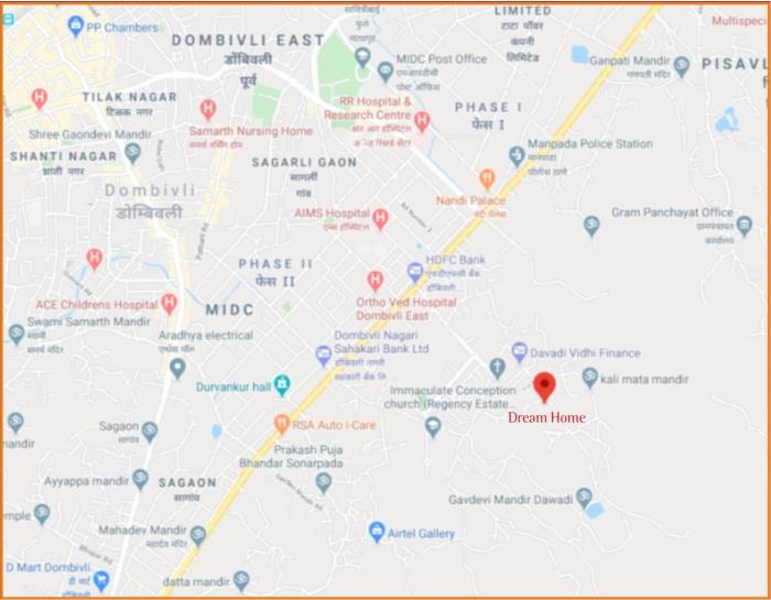 Dream Home Location Map