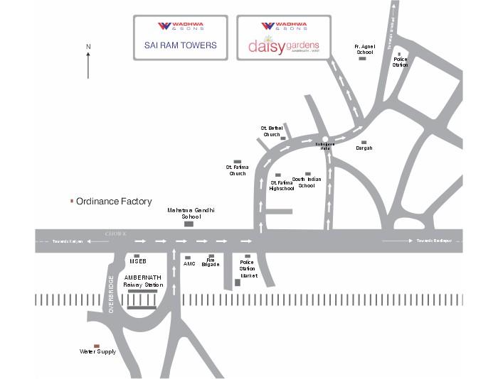 Wadhwa Daisy Gardens Location Map