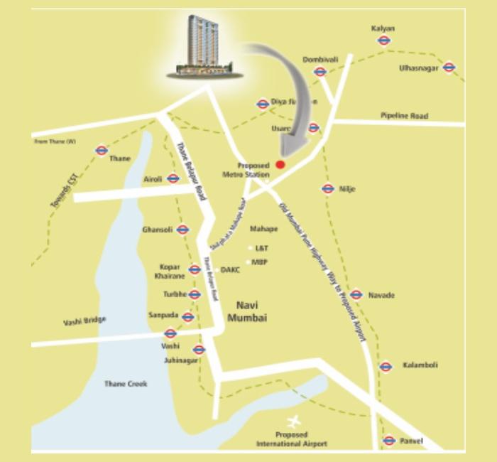 RDP Shanti Luxuria Location Map