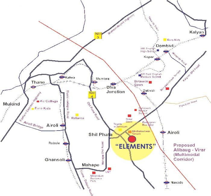 Uma Elements Location Map