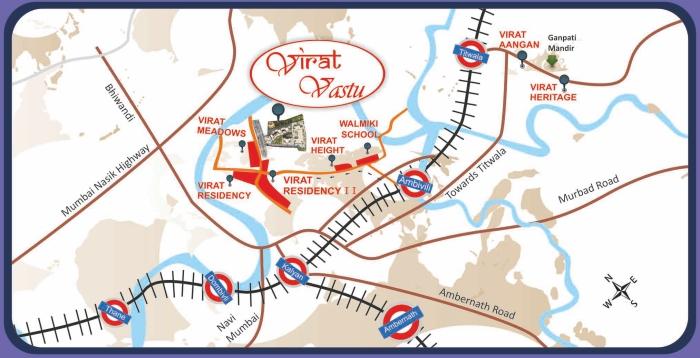 Virat Vastu Location Map