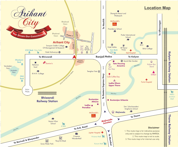 Arihant City Location Map