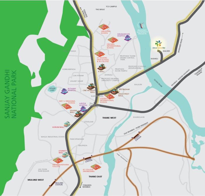 Shree Morya Sports City Location Map