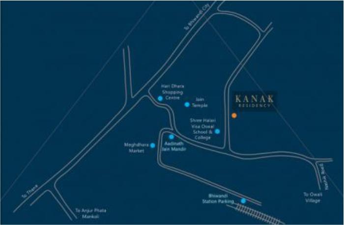Kanak Residency Location Map