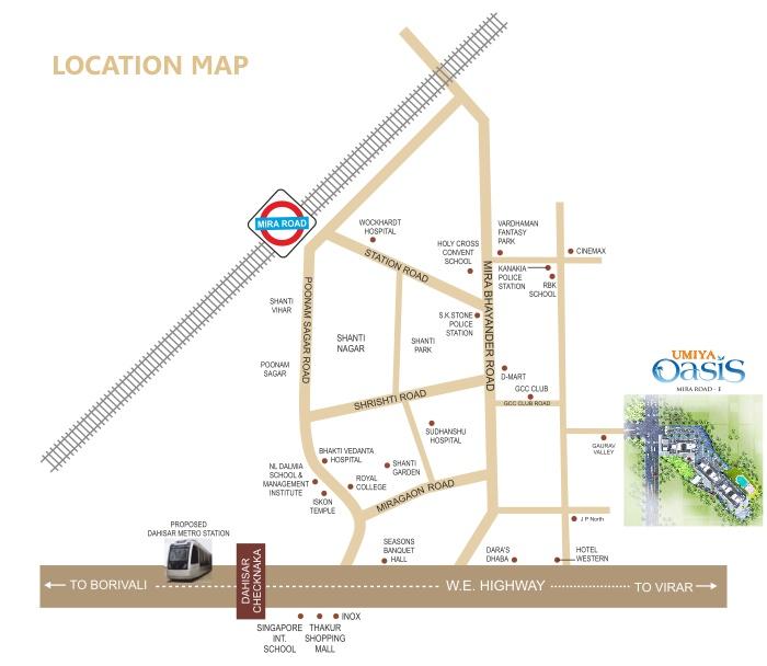 Umiya Oasis Location Map