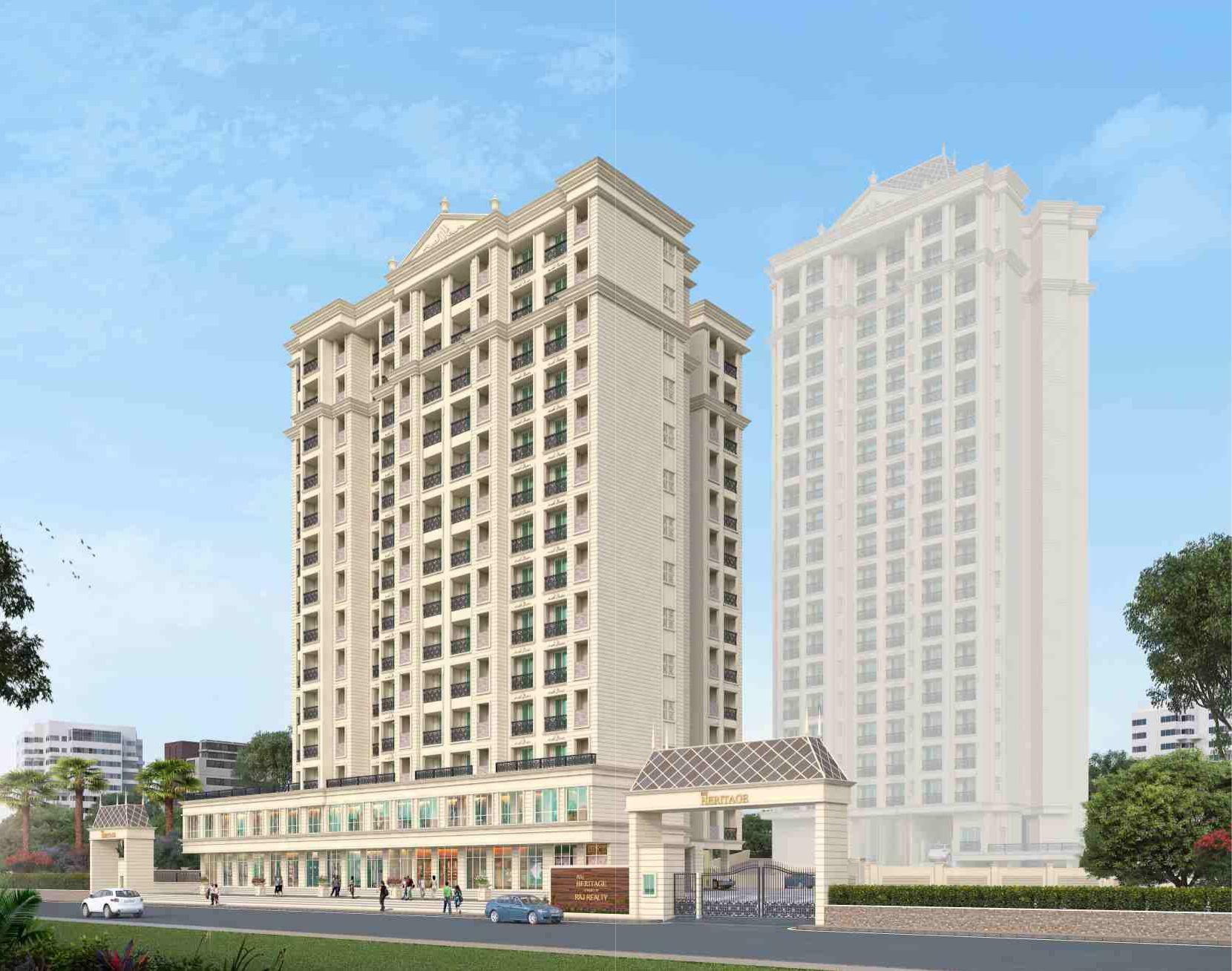 1 & 2 BHK Flats & Shops in Mira Road East in Raj Heritage 1