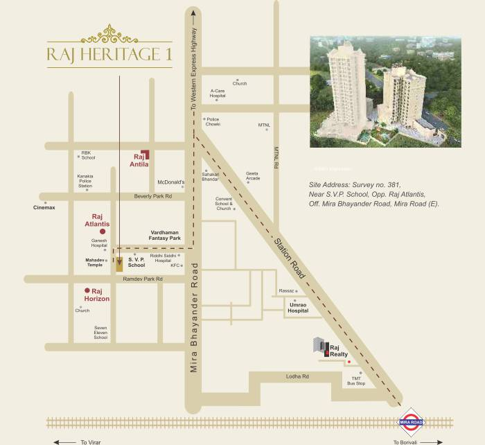 Raj Heritage 1 Location Map