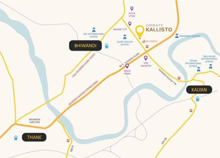 Ornate Kallisto Location Map