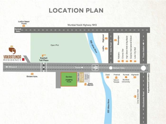 JNB Vakratunda Residency Location Map